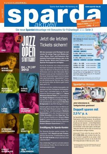 Ausgabe Juni 2013 - Sparda-Bank Baden-Württemberg