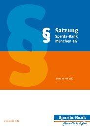 Satzung - Fassung: Juli 2012 - Sparda-Bank München eG