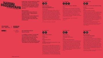 Programm 2. Jahreshälfte 2013