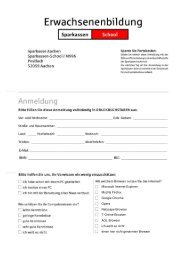 per Formular - Sparkasse Aachen