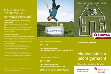 Das Energieeffizienz-Darlehen - Sparkasse Aachen