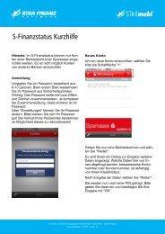 Kurzhilfe S-Finanzstatus - Sparkasse Aachen