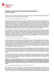 Datenschutz-Merkblatt zu girogo - Sparkasse Aachen