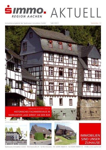 S-Immo aktuell - Juli 2013 - Sparkassen Immobilien GmbH Aachen