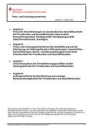 Preis- und Leistungsverzeichnis - Sparkasse Attendorn-Lennestadt ...