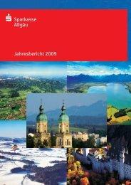 Sparkasse Allgäu Jahresbericht 2009