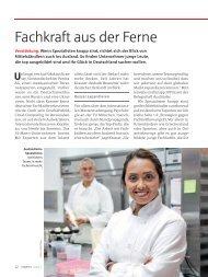 """PROFITS 2/2013 """"Fachkraft aus der Ferne"""" von Anja Dilk"""