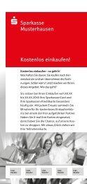 Sparkasse Musterhausen Kostenlos einkaufen! - Sparkasse Passau
