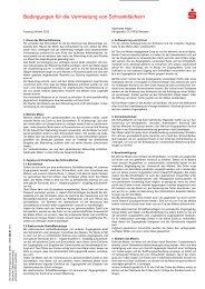 Bedingungen für die Vermietung von ... - Sparkasse Allgäu