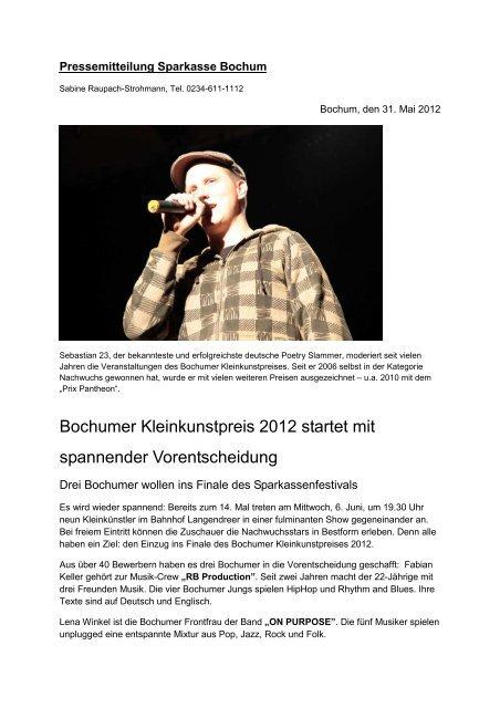 . PM Ank  ndigung Vorentscheid   Sparkasse Bochum