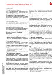 Bedingungen für die MasterCard/Visa Card - Sparkasse Bremen