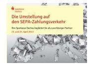 Vereinsinformationen - Sparkasse Dachau