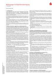Bedingungen für Datenfernübertragung - Sparkasse Darmstadt