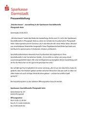 Ausstellung Brücken bauen Pfungstadt-Hahn - Sparkasse Darmstadt