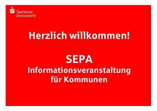 SEPA: Übergang auf die neuen Verfahren - Sparkasse Donauwörth