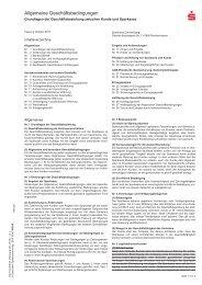 Allgemeine Geschäftsbedingungen der Sparkasse Donnersberg