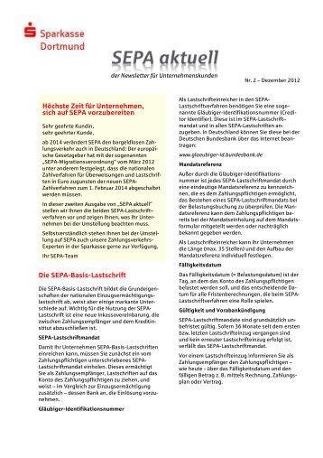 Ausgabe 2 - Dezember 2012 - Sparkasse Dortmund