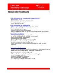 Checkliste für Ihr Unternehmenskonzept - Sparkasse Dortmund