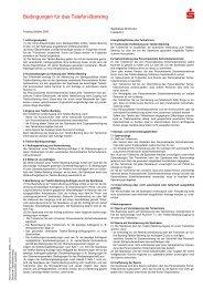 Bedingungen für das Telefon-Banking - Sparkasse Dortmund