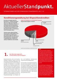 Hinweise zur Konditionen- gestaltung - Sparkasse Dortmund