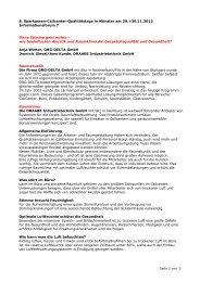 8. Sparkassen-Callcenter-Qualitätstage in Münster am 29.+30.11 ...