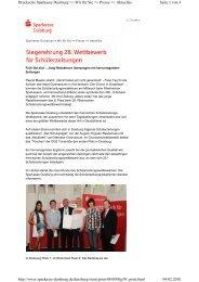 Siegerehrung 28. Wettbewerb für Schülerzeitungen - Sparkasse ...