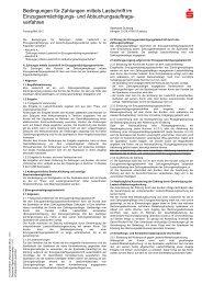 Bedingungen für Zahlungen mittels Lastschrift im ...