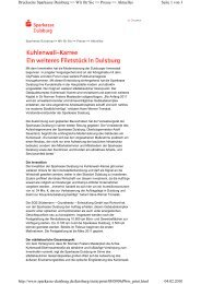 Kuhlenwall–Karree - Sparkasse Duisburg