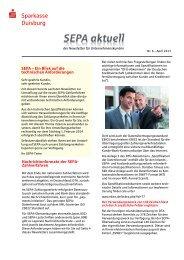 Nr. 6 – April 2013 - Sparkasse Duisburg