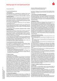Bedingungen für die SparkassenCard - Sparkasse Mittelmosel