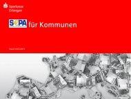 Präsentation SEPA-Veranstaltung Kommunen - Sparkasse Erlangen