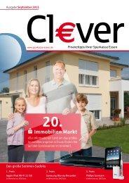 Cl€ver Ausgabe September 2013 - Sparkasse Essen