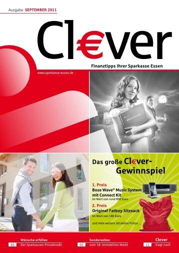 Cl€ver - Ausgabe September 2011 - Sparkasse Essen