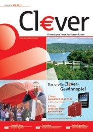 Die gesamte Ausgabe der Cl€ver können Sie ... - Sparkasse Essen