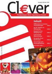 Cl€ver - Ausgabe Oktober 2009 - Sparkasse Essen