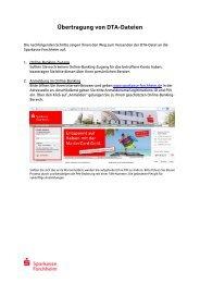 Anleitung zur Übertragung - Sparkasse Forchheim