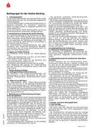 Bedingungen für das Telefon-Banking - Sparkasse Forchheim