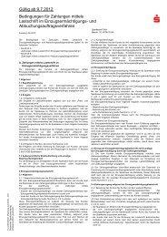 Bedingungen f r Zahlungen mittels Lastschrift im ... - Sparkasse Fürth