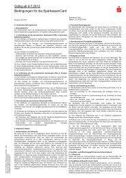 Bedingungen f r die SparkassenCard (g ltig ab 9.7 ... - Sparkasse Fürth