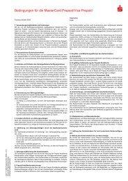 FDI/PLUSCARD Bedingungen für die MasterCard ... - Sparkasse Fürth