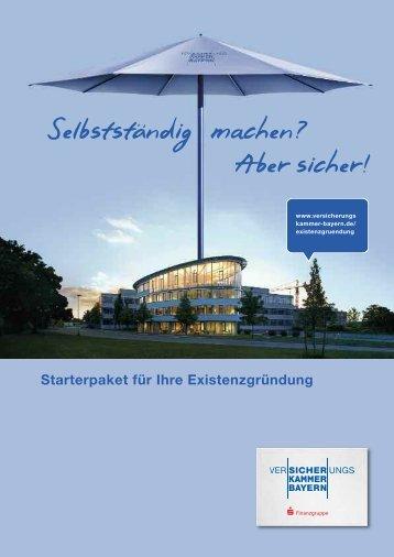 Starterpaket der Versicherungskammer Bayern (PDF, 257 KB)