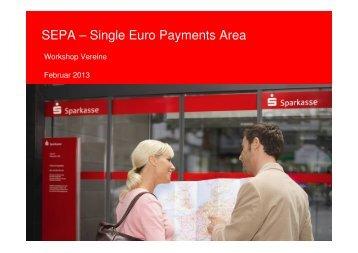 SEPA-Präsentation Vereine - Sparkasse Fulda