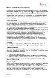 Zusatzvereinbarung für das S-DiscountDepot - Sparkasse ...