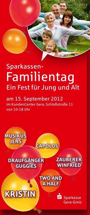 Familientag - Sparkasse Gera-Greiz