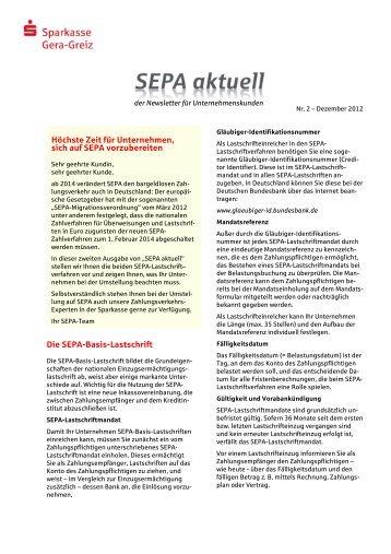 Nr. 2 – Dezember 2012 - Sparkasse Gera-Greiz