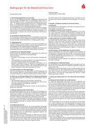 Bedingungen für die MasterCard/Visa Card - Sparkasse Gießen