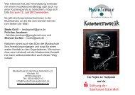 Kammermusik - Sparkasse Gütersloh