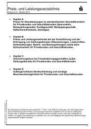 Preis- und Leistungsverzeichnis - Sparkasse Harburg-Buxtehude
