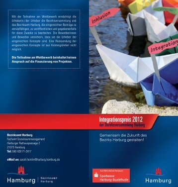 Integrationspreis 2012 - Flyer » (PDF, 2 MB) - Hamburg