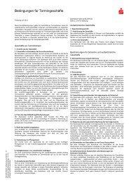 Bedingungen für Termingeschäfte - Sparkasse Harburg-Buxtehude